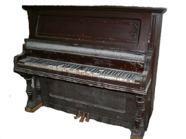Damaged Upright Piano